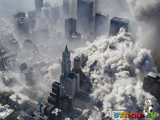 Взгляд с небес.Уникальные фото теракта 11 сентября