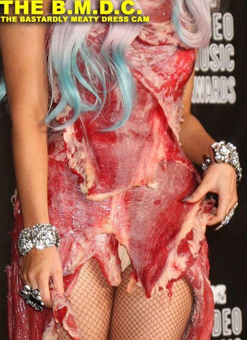 Вы смотрели леди гага в платье из мяса