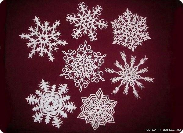 Красивые снежинки своими руками