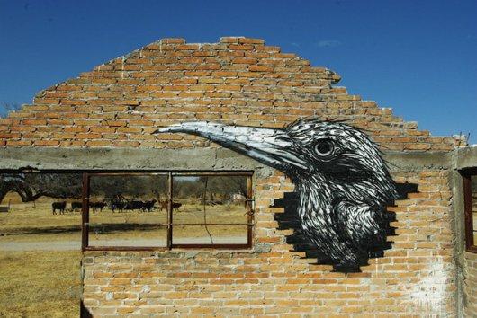 Стрит-арт художника ROA в Мексике