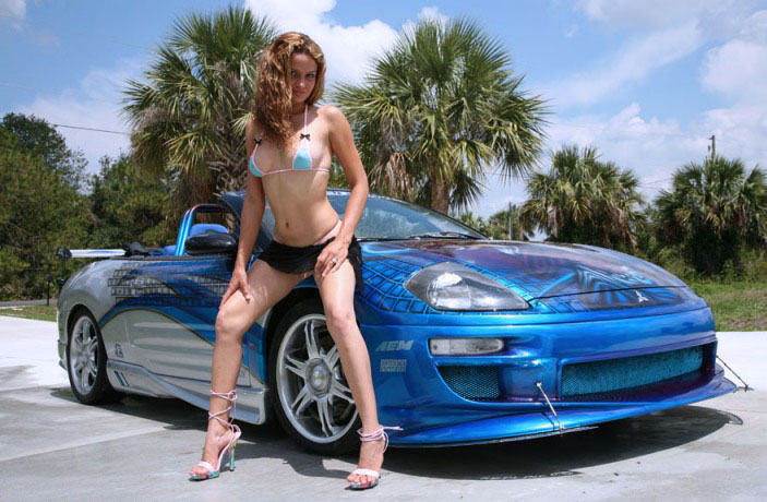 Hot girls and fast cars