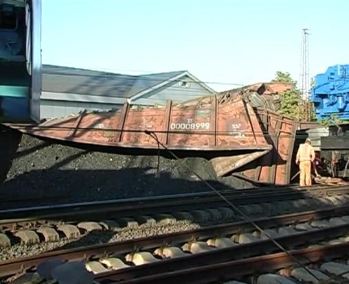 Авария на железной дороге в Донецкоя области. Фото, видео