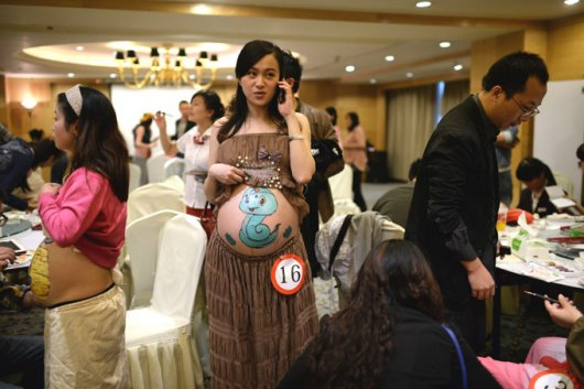 Боди-арт для беременных